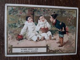 L36/90 CHROMO AU BON MARCHE . UN GARDE SURVINT A JEUN QUI CHERCHAIT AVENTURES - Au Bon Marché
