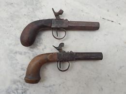2 Pistolets (dans L'état) à Identifier - Armi Da Collezione