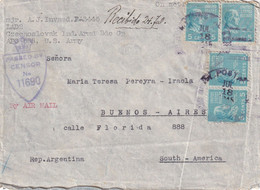 USA 1945 LETTRE CENSUREE US ARMY POSTAL SERVICE  APO 655 - Covers & Documents