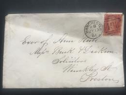 GB Victoria 1861 Cover Manchester Duplex To Preston Tied With 1d Red Star - Briefe U. Dokumente