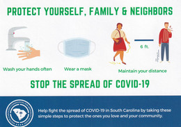 ADV; COLUMBIA, South Carolina, 2020; SC Commission For Minority Affairs, Stop The Spread Of COVID-19 - Columbia