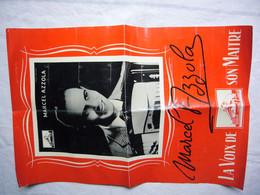 Affiche Musique Marcel Azzola  Autographe  Accordéon  30 X 45 Cm - Manifesti