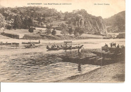 LOIRE LE PERTUISET LES NEUF PONTS ET CORNILLON ANIMEE ECRITE - Other Municipalities