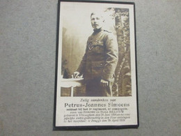 Dp Oorlog, 1894 - 1919, Vlissegem/Brugge, Simoens - Devotion Images