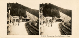 Stereo, Riesengebirge, Talsperre, Bahnhof - Stereoscoop