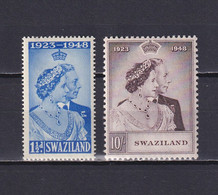 SWAZILAND 1948, SG# 46-47, CV £41, Royal Silver Wedding, MH - Swaziland (...-1967)
