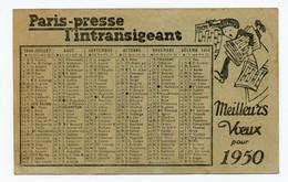 Calendrier 1950 - Paris-Presse / L'Intransigeant - Small : 1941-60