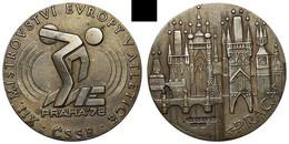AC -  XIIth EUROPEAN ATHLETICS CHAMPIONSHIPS PRAHA 1978 DISCUS THROWER CZECHOSLOVAKIA MEDALLION - MEDAL - Atletismo