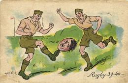 Militaria Satirique Marcel Bloch Rugby 39-40 RV - Heimat