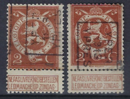 Nr. 109 Voorafgestempeld Nr. 2247 Positie A + B  YPER 1913 YPRES ; Staat Zie Scan  ! - Roller Precancels 1910-19