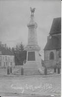 Monument Aux Morts Le 17 Avril1922 Carte Photo En Très Bon état - Tannay