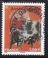 FRANCE 2021 -  Timbre Oblitéré Gommé Dentelé  N5467  ANNEE DU BUFFLE 1  (beau Cachet Rond) - 2010-.. Matasellados