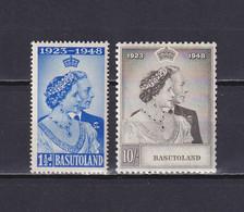 BASUTOLAND 1948, SG# 36-37, CV £50, Royal Silver Wedding, MH - 1933-1964 Crown Colony