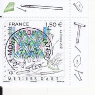 FRANCE 2021 -  Timbre Oblitéré Gommé Dentelé  N5471 VITRAILLISTE  AVEC VIGNETTE (beau Cachet Rond) - Oblitérés