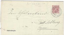 Envoi Entier Postaux Wurtemberg 10 Rouge - Cartas