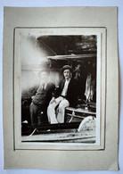 Photo 1898 Marseille Intérieur Remise à Bateaux Vieille Chapelle - Jules Arnaud Et Son Fils Albert  - Cf. Annonce - Old (before 1900)