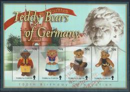 TURKS & CAICOS 2003 TEDDY BEARS OF GERMANY MI No BLOCK 219 MNH VF!! - Turks & Caicos