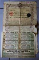 1 Action Royaume De Hongrie Emprunt D'état 3% Or 1895 Avec 8 Coupons - Electricity & Gas