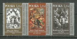POLAND MNH ** 4187-4189 ART OEUVRES PERDUES.  REMBRANDT. RUBENS. DURER - Ongebruikt