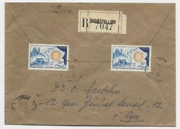 ROTARY 30FRX2 LETTRE COVER REC MONTPELLIER 1955 AU TARIF - 1921-1960: Periodo Moderno