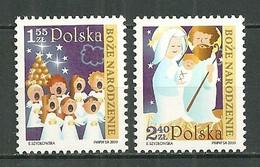 POLAND MNH ** 4190-4191 Noel Chorale D'anges La Sainte Famille Religion - Ongebruikt