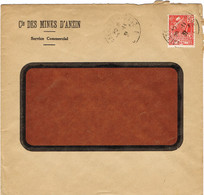 ENVELOPPE  A EN-TETE COMPAGNIE DES MINES D'ANZIN - 1921-1960: Moderne