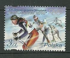 POLAND MNH ** 4192 Jeux Olympiques D'hiver à Vancouver Canada Ski De Fond Skieur Sport - Ongebruikt