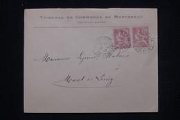 FRANCE - Enveloppe Du Tribunal De Commerce De Montereau Pour Moret/ Loing En 1903 Cachet Du Tribunal Au Dos - L 99973 - 1877-1920: Periodo Semi Moderno