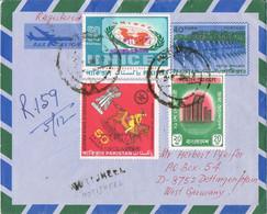 40733. Aerograma  Certificado MOTIJHEEL (Bangla Desh) 1972 To Germany - Bangladesch