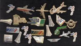 Lot 23 Pin's AVIons, AIR FRANCE, UTA, Ect...... - Aerei
