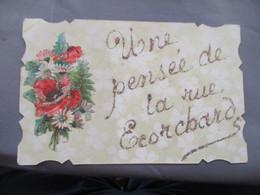 Une Pense Rue Ecorchard Nantes Carte Ajouti Dore  Decoupi - Nantes