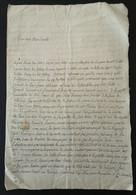 Lettre De Monsieur De Lacelle  A Villebaton à Son Oncle Le 19 Février 1780 - Manuscripts