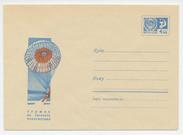 Postal Stationery Soviet Union 1968 Parachute - Parachutists - Aerei
