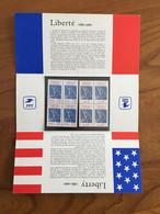 Pochette Philatélique D'émission Commune FRANCE-USA Liberté 18886-1986 - 1986 - Neuf - Souvenir Blokken