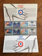 Pochette Philatélique D'émission Commune FRANCE-GRANDE BRETAGNE TUNNEL SOUS LA MANCHE - 1994 - Neuf - Souvenir Blokken