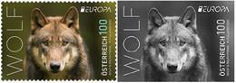 Europa Cept - 2021 - Austria - 1.Stamp+1.Stamp Black Proof - (Wildlife) ** MNH - 2020