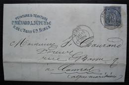 Nîmes 1876 P. Ménard L. Dupuy Fabrique De Couleurs Et De Vernis, Facture Avec En-tête, Voir Intérieur - 1877-1920: Periodo Semi Moderno