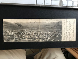 PLEVLJE MONTENEGRO~PANORAMA~1900s LAZAR A ZIVKOVIC PHOTO DOUBLE IN 2 CARDS POSTCARD 53291 - Montenegro