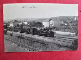BUXY - La GARE - Passage De Train A Vapeur - TBE - Autres Communes