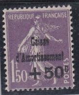 Caisse D'Amortissement Semeuse 50c Sur 1,50 Violet  Yvert 268 Neuf XX  Cote 200 € - Unused Stamps
