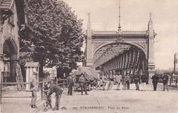 249 Strasbourg Pont Du Rhin Douanier Vérifiant La Plaque D'un Vélo Se Rendant à Kehl CP Ayant Voyagé En 1923 - Dogana