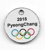 Jeton  De  Caddie  Néerlandais, Sport  J.O  2018  PyeongChang  Recto  Verso - Einkaufswagen-Chips (EKW)