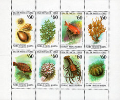 Chile - 1992 - Marine Fauna Of Easter Island - Mint Stamp Sheetlet - Cile
