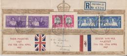 South Africa - Royal Visit 1947 Schmuck-FDC Einschreibebrief Pretoria - Non Classificati