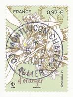 FRANCE 2020 -  Timbre Oblitéré Gommé Dentelé  N5403 FLEUR D ORANGER (beau Cachet Rond) - 2010-.. Matasellados