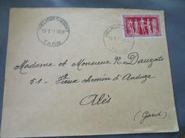 Vielmur Sur Agout Horodateur Cachet Horoplan Timbre  President Chambres De Commerce - 1921-1960: Modern Tijdperk