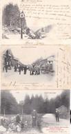 3 CP Les Cols Des Vosges Oderen (Ventron) Et La Schlucht Douaniers Allemands (frontière Avant 1914) éd Ad Weick St Dié - Dogana