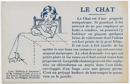 CPA SPA Protection Des Animaux : LE CHAT  ** TRACTS  ZOOPHILES POPULAIRES MARSEILLE ** - Cats
