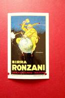 Cartolina Birra Ronzani Casalecchio Di Reno Bologna Viaggiata 1938 Mauzan - Reclame