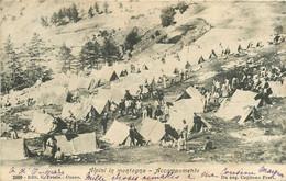 CPA - ESPAGNE - ALPINI IN MONTAGNA ACCAMPAMENTO Militaria Tentes Campement Manoeuvres Soldats 2609 - Other